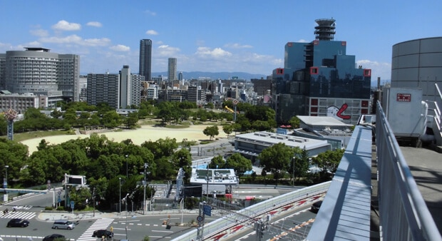 屋上撮影スタジオからの撮影した風景